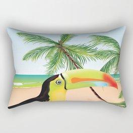 Tamarindo Costa Rica cartoon beach poster. Rectangular Pillow