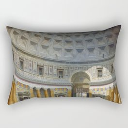Interior of the Pantheon, Rome by Giovanni Paolo Panini Rectangular Pillow