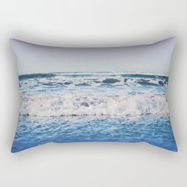 Indigo Waves Rectangular Pillow