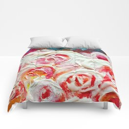 Roses on Fire Comforters