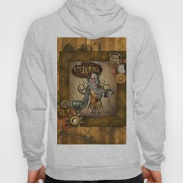 Awesome steampunk women with owl Hoody
