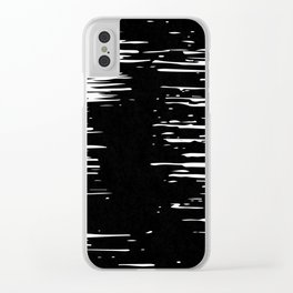 Splash White on Black Clear iPhone Case