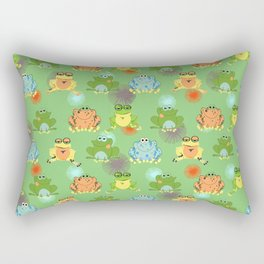 I love green frogs Rectangular Pillow
