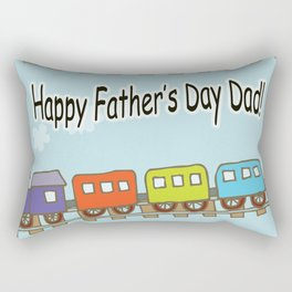 Happy Father's Day Train Rectangular Pillow