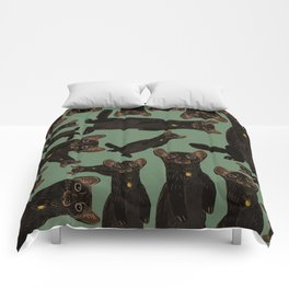 Sable Marten in Green Comforters
