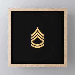 Sergeant First Class (Gold) Framed Mini Art Print