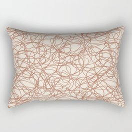 Cavern Clay SW 7701 Thick Hand Drawn Scribble Mosaic Pattern Creamy Off White SW7012 Rectangular Pillow