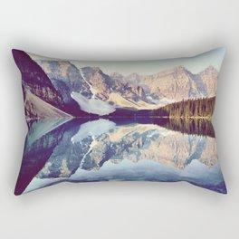 Moraine Lake Reflection Rectangular Pillow