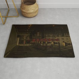 Old Goodman Theatre Sign from Alley Chicago Illinois Rug