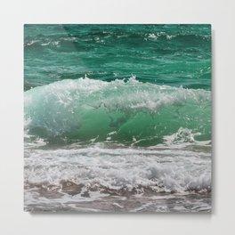 Sea Water Waves Metal Print