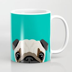 Peeking Pug Mug