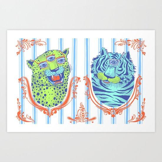 Stephan and Steve Art Print