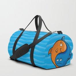 Yin Yang Fish Cartoon Duffle Bag