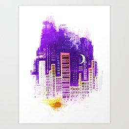 THE CITY THAT NEVER SLEEPS Art Print
