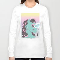 sea horse Long Sleeve T-shirts featuring SEA HORSE by MujerCiervo