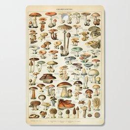 Vintage Mushroom & Fungi Chart by Adolphe Millot Cutting Board