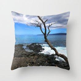 Secret Tropical Cove in Maui, Hawaii Throw Pillow