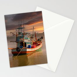 Ao Noi Fishing Boat Thailand Stationery Cards