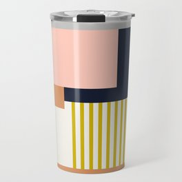 Sol Abstract Geometric Print in Multi Travel Mug