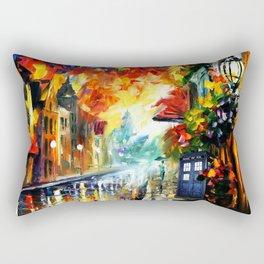 Starry Tardis Night Rectangular Pillow
