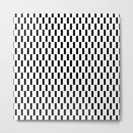 Modern black white abstract geometrical stripes Metal Print
