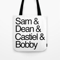 Supernatural roll call Tote Bag