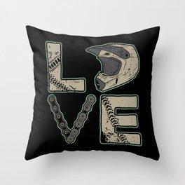 I Love Dirt Bike   Motocross Throw Pillow