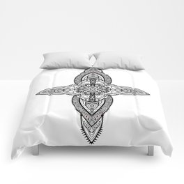 Lans' Cross - Contemporary Gothic Comforters