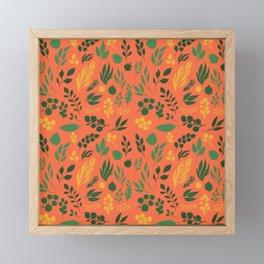 Floral Orange Autumn Framed Mini Art Print
