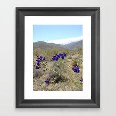 Indigo bush Framed Art Print