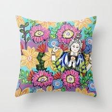 White Tara Throw Pillow