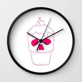 Skullcake Pink Wall Clock
