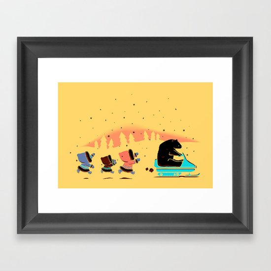 Grand Theft Arctic Framed Art Print
