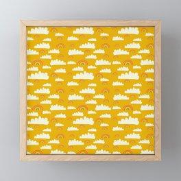 Wonky Rainbow Clouds Framed Mini Art Print