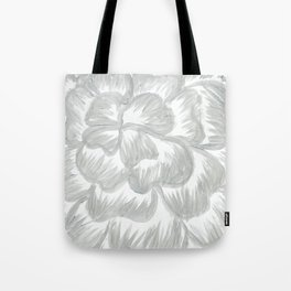 Silver Flower Tote Bag