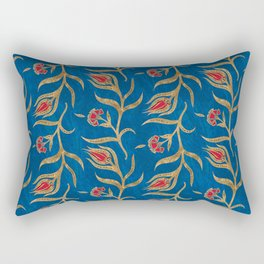 Turkish tulip pattern - Ottoman tile #18 Rectangular Pillow