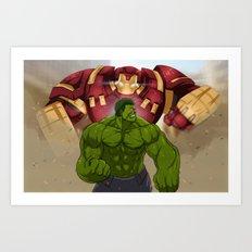 Hulk vs. Hulkbuster Art Print