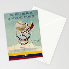 xiv serie mundial de baseball amateur caracas. 1953 poster Stationery Cards