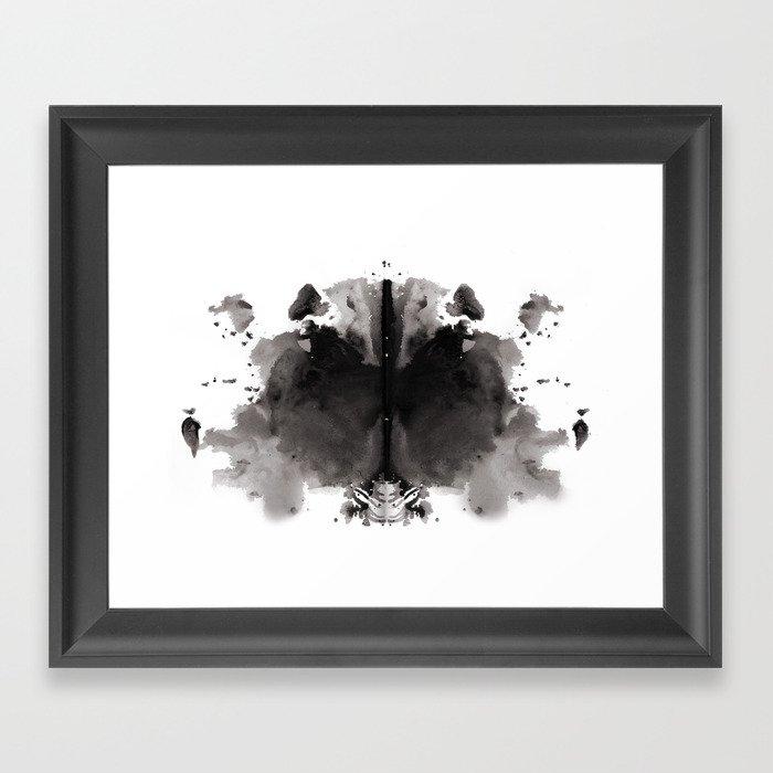 Rorschach test 4 Gerahmter Kunstdruck