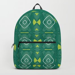 Maska green stripes woven pattern Backpack