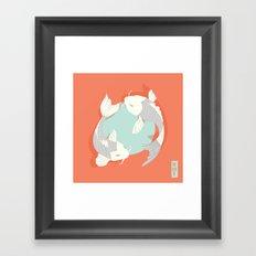 Koi fish 004 Framed Art Print