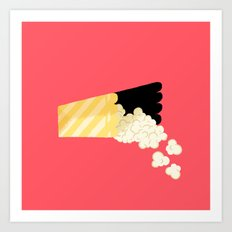 Spilled Popcorn Art Print