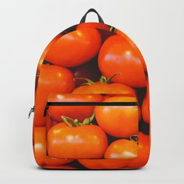 Vintage organically homegrown heirloom tomatoes illustration pattern Backpack