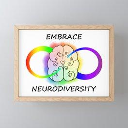 Embrace Neurodiversity Framed Mini Art Print