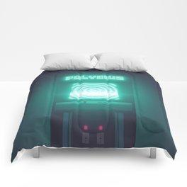 Polybius Arcade Game Machine Cabinet - Front Black Comforters
