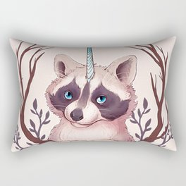 Raccoon Unicorn Rectangular Pillow