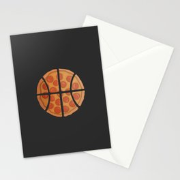 Pizza Basketball Stationery Cards