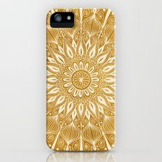 Vintage Mandala on Gold iPhone (5, 5s) Slim Case