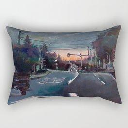 Rainy Drive Rectangular Pillow