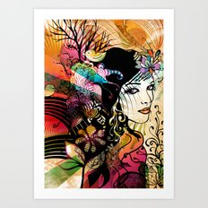 Colorful Nature Art Print